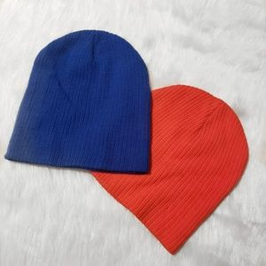 Forever 21 Orange and Blue Beanies